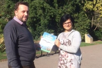 Ian Barret and Bristol West MP Thangam Debbonaire