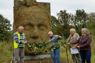 Sculpture unveiled at Bennett's Patch